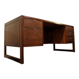 Mid-Century Danish Modern Camilo Muebles Walnut Executive Desk