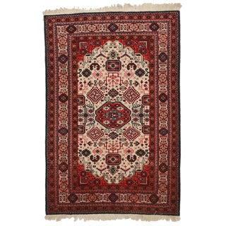 Vintage Persian Ardebil Wool Rug - 4′4″ × 6′11″