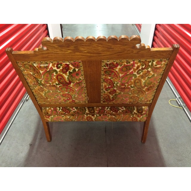 Antique Carved Wood Settee - Image 4 of 8