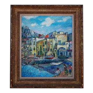"David Davidovich Burliuk ""A View of the Marina Grande, Capri"" Painting"