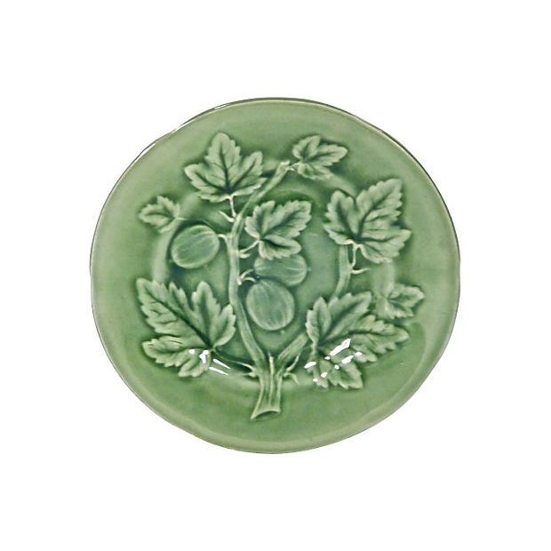 Image of Majolica French Choisy Le Roi Gooseberry Plate