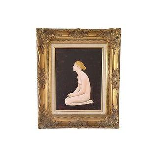 Plaintive Nude Oil Painting