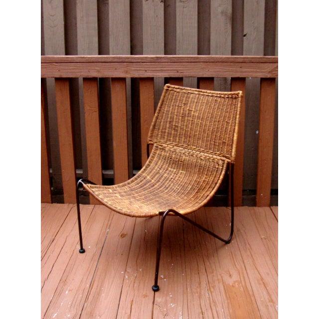 MCM Modern Wicker Iron Frederick Weinberg Chair - Image 4 of 10