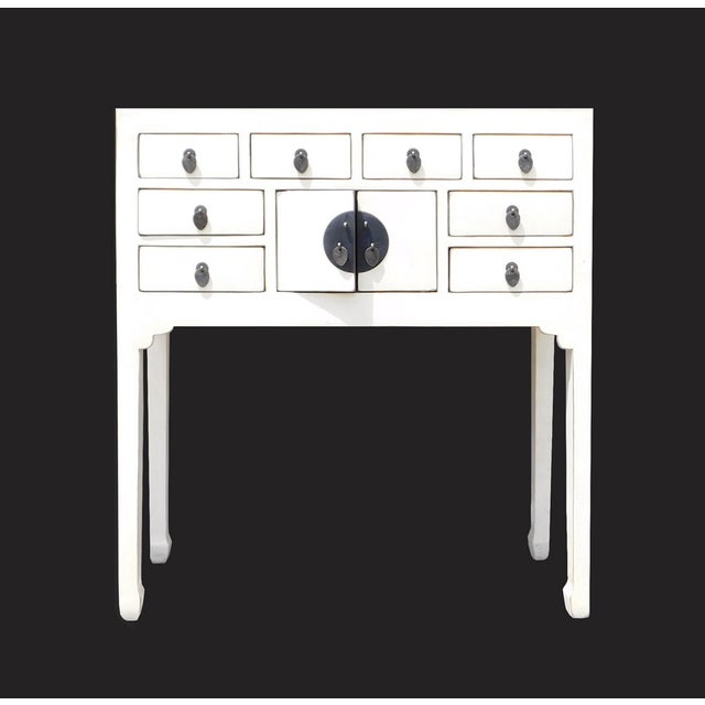 Off-White Distressed Console Table - Image 6 of 7