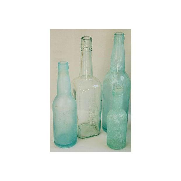 Antique Mediterranean-Blue Bottles - Set of 8 - Image 5 of 8
