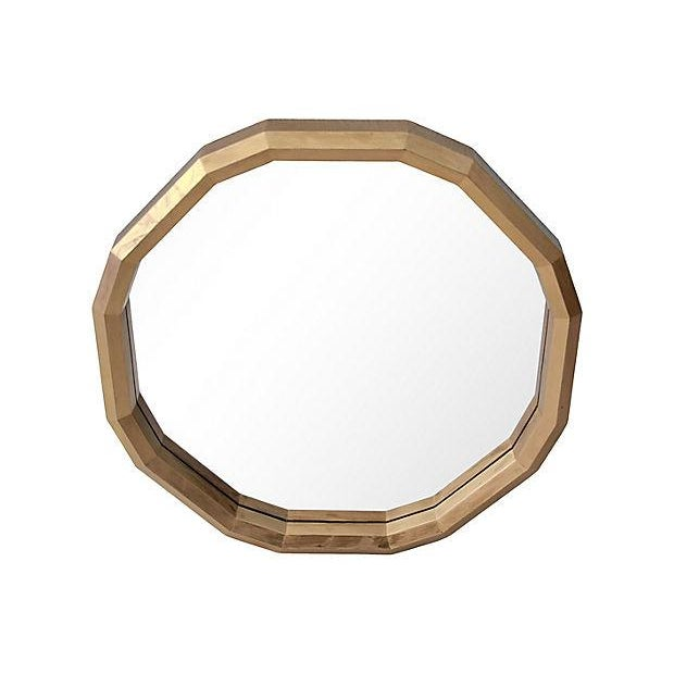1970s Faceted Gold Wall Mirror - Image 2 of 8