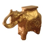 Image of Golden Elephant Statue Sidetable