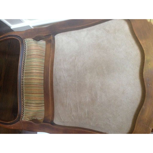 Pair of French Walnut Upholstered Armchairs - Image 10 of 11