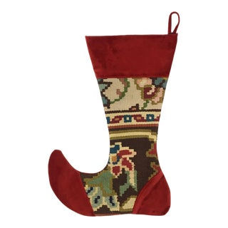 Large Kilim Christmas Stocking | Cedar