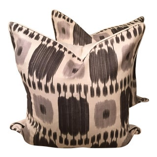 Schumacher Kandira Pillows in Ash - A Pair