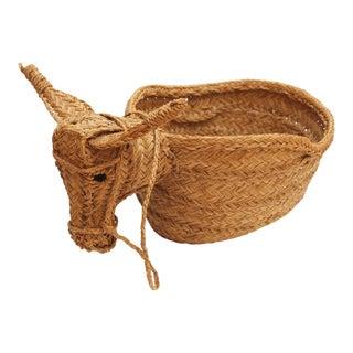 Hand-Woven Donkey Basket