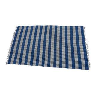 "Swedish Vintage Handwoven Rag Rug (Plastic) 3.75"" x 6.25"""