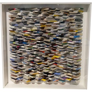 Paper Art Wall Sculpture by Guy Leclef, Belgium, Contemporary