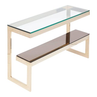 Gold Layered G Two-Tier Console Table