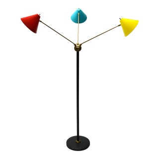 Italian Three-Arm Floor Lamp