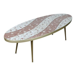 Oval Tile Coffee Table