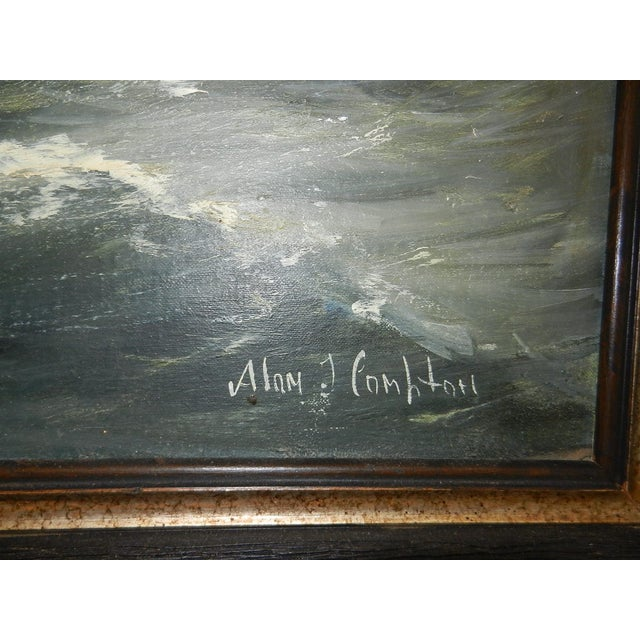 Framed Oil Seascape Painting - Image 5 of 7