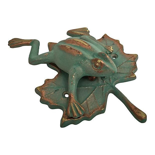 Image of Green & Gold Frog Door Knocker