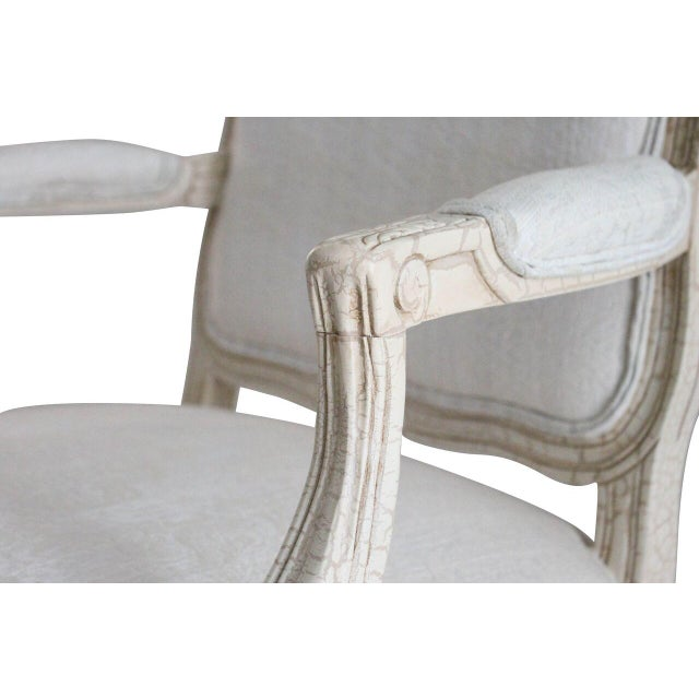 White Louis XV Style Armchairs - Pair - Image 2 of 3
