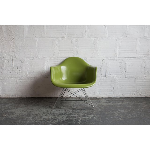 Vintage Green Eames Armchair on Modernica Base - Image 2 of 5