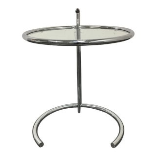 Eileen Gray DWR E1027 Adjustable Chrome Side Table
