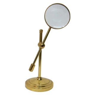Handcrafted Brass Magnifying Glass on Stand