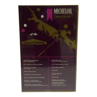 Vintage Michelob Concert Series Poster - Concord Pavilion, 1981