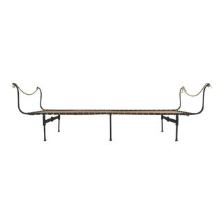 19th C. Antique French Campaign Daybed, Two Available