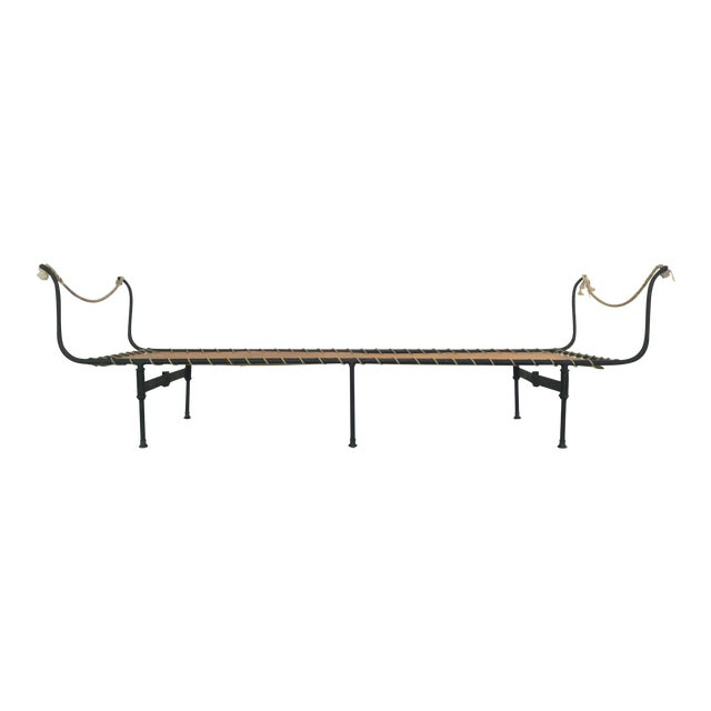 19th C. Antique French Campaign Daybed, Two Available - Image 1 of 11