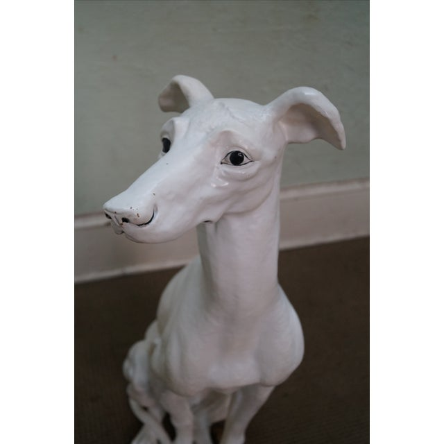 Image of Mid Century Italian Ceramic Greyhound Dog Statue