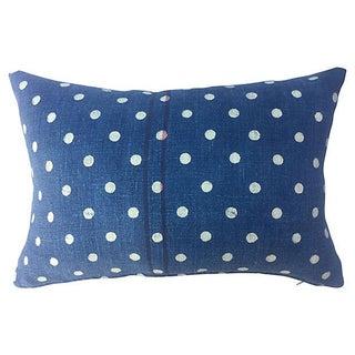 French Indigo Dot Grainsack Pillow