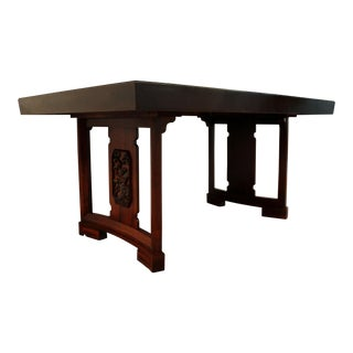 James Mont Mid-Century Modern Asian Ming-Style Mahogany Dining Table by Thomasville