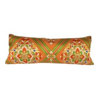 Vintage Japanese Obi Lumbar Pillow