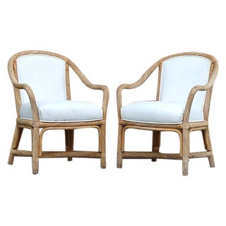 Rattan Rope Twist Chairs by Fort Smith - a Pair