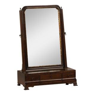 George III Period Mahogany Dressing Mirror, England c. 1790 (15″w x 21 1/2″h)
