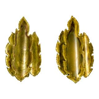 Brutalist Leaf Sconces