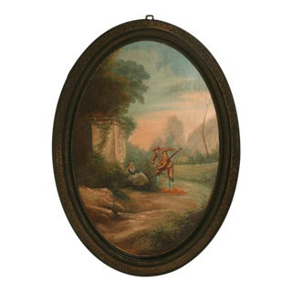 Pair of Signed French 19th Century Paintings in Great Frames