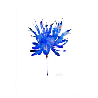Blue Bird Botanical Print
