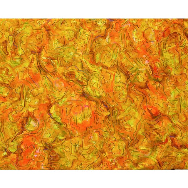 """Inside Amber"" Large Abstract Painting by Trixie Pitts - Image 1 of 4"