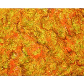 """Firelight"" Large Abstract Painting by Trixie Pitts"
