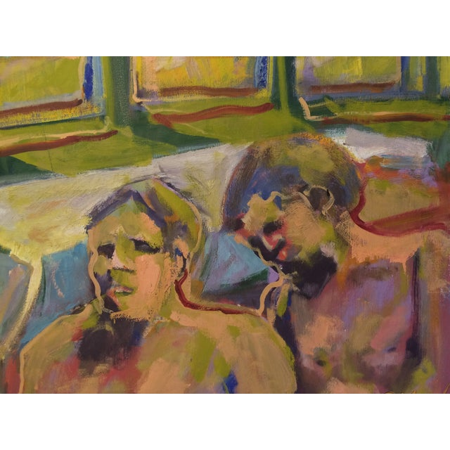 """One and Two,"" Oil Painting Circa 1966 - Image 3 of 7"