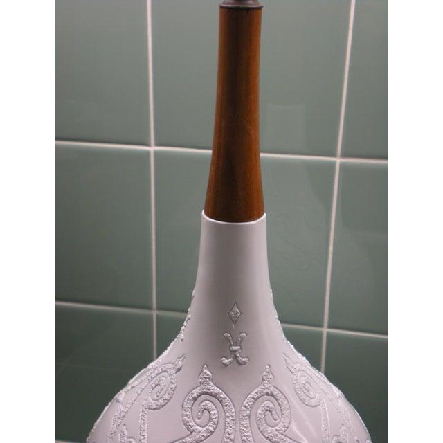 Ceramic and Teak Lamps - A Pair - Image 4 of 4