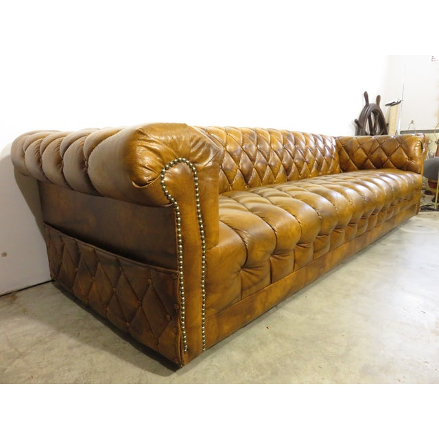 Vintage Tufted Chesterfield Low Profile Sofa Chairish