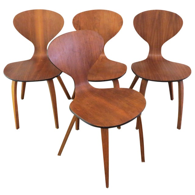 Vintage Cherner Dining Chairs - Set of 4 - Image 1 of 9