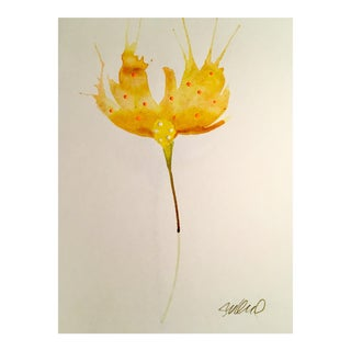 Sunrise Botanical Original Watercolor Painting