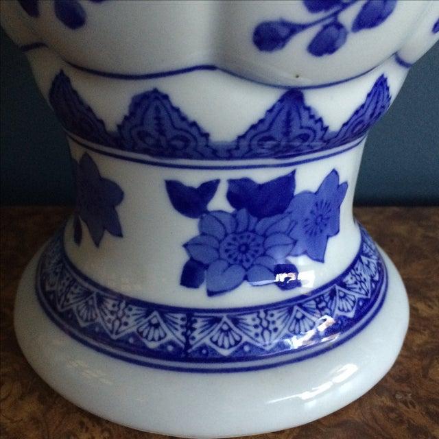 Image of Seymour Mann China Blue Porcelain Vase