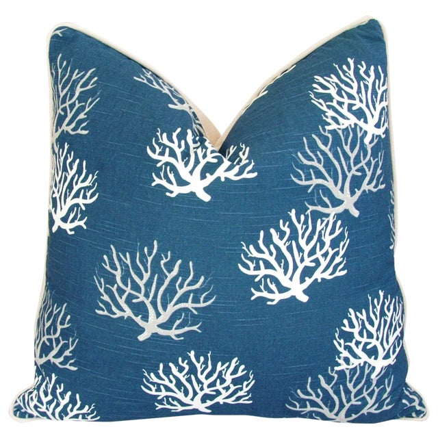 Designer Ocean & Beach Coral Branch Pillow - Image 1 of 4