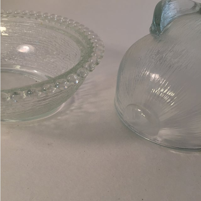 Vintage Candlewick Style Glass Bunny Dish - Image 3 of 4