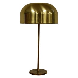 Mid-Century Brass Mushroom Table Lamp by Laurel