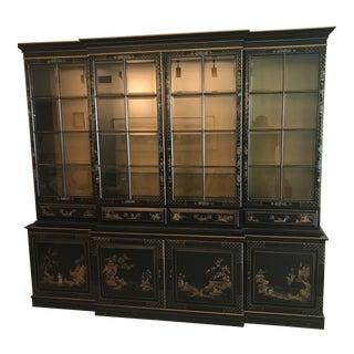 Chinoiserie Breakfront Cabinet Desk